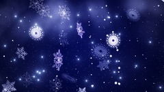 Beautiful snowflakes swirling in the snowfall. Graphics. Stock Footage