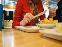 Woman eating traditional Swedish food Stock Footage