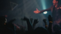 People dancing at live music concert Stock Footage