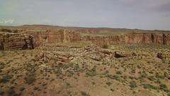 Grand Canyon Aerial Shot of Navajo Nation Stock Footage
