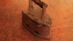 Shot of an Old rusty iron Stock Footage