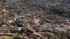 Poor district panorama of the old turkish town Stock Footage