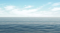 4K Animation of Ocean or Sea with Waves and Clouds Stock Footage