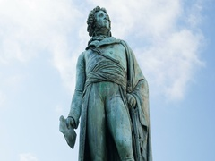 Statue of General Kleber in Strasbourg, France Alsace Stock Footage