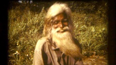 Sri Lanka 1986 old bearded man Stock Footage