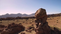 Mars-like deserted landscape in Teide National Park, Canary Islands, Spain. Stock Footage