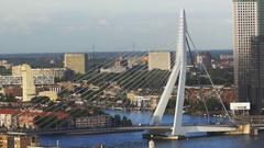 Cityscape of Rotterdam Stock Footage