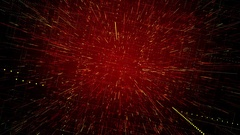Rotating tunnel of dotted lines of particles red seamless loop Stock Footage