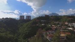 View of the city Caracas, Venezuela Stock Footage