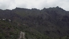 Scenic view of famous Masca ravine. Tenerify Canary Islands, Spain. Stock Footage