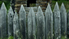 The ghost gets an old fence. Stock Footage