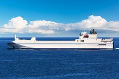 Big industrial cargo ship in the sea Kuvituskuvat