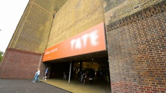 Tate Modern Central gate main entrance Stock Footage