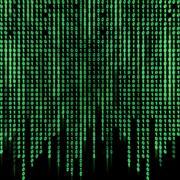 Green binary stream on the screen Stock Illustration