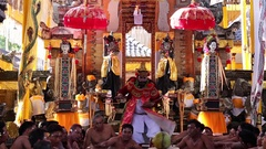 Balinese monster wide shot Stock Footage