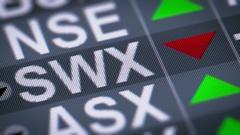 SIX Swiss Exchange based in Zurich, Switzerland. Down. Looping. Stock Footage