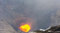 Lava lake of Marum Volcano in Ambrym Stock Footage