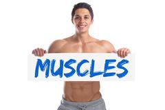 Bodybuilding bodybuilder body builder building muscles muscle strong muscul.. Stock Photos
