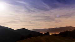 Traces of stars against the night sky, shot long exposure Stock Footage