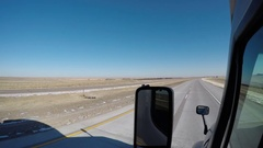 Semi-Truck Exterior Nebraska Interstate 80 Stock Footage