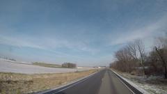 Semi-Truck Exterior Rural Iowa Backroad Stock Footage
