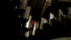 Rotating Gears Of A Combustion Engine Stock Footage