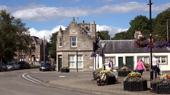 Scotland Highlands county of Sutherland bend in center of Dornoch Stock Footage