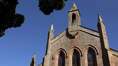 Scotland Highlands Sutherland backside of church nave in Dornoch Stock Footage