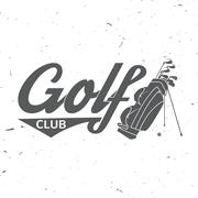 Golf club concept with golfing bag Piirros