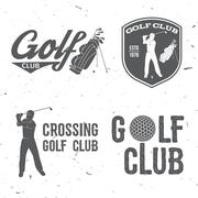 Golf club concept with golfer and bag Piirros
