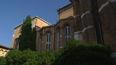 Summer day venice city church cathedral side panorama 4k italy Stock Footage