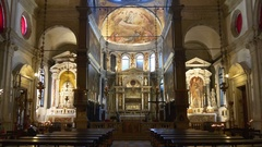 Venice city famous cathedral inside interior panorama 4k italy Stock Footage