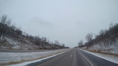 POV Driving Rural Iowa Highway Stock Footage