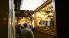 Christmas market alcohol mulled wine Stock Footage