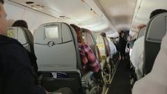 New York City, USA -: Flight Buffalo-NY. Service aircraft Stock Footage
