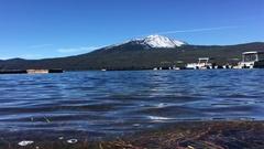 Mt Bailey and Diamond Lake Oregon Stock Footage