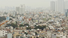 Residential area to Ho Chi Minh City in Vietnam Stock Footage