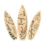 Set of surfboard logos Stock Illustration