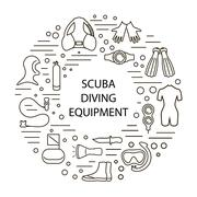312 set of scuba diving Piirros