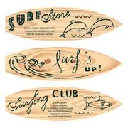 Set of surf logos Stock Illustration