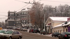 Central hotel in Kirov Stock Footage