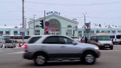 Railway station in Kirov Stock Footage
