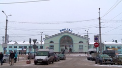 The station building of the railway in Kirov Stock Footage