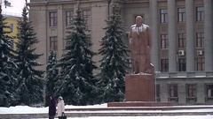 The monument to Lenin Stock Footage