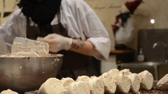 A Pastry Chef is Preparing the Merveilleux, a typical belgian sweet. Stock Footage
