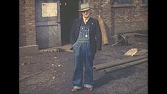 Vintage 16mm film, 1940 Illinois, coal mine, people and staff #2 Stock Footage