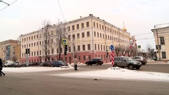 The bus on the street in Kirov Stock Footage