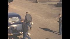 Vintage 16mm film, 1940 Illinois, coal mine, people and staff Stock Footage