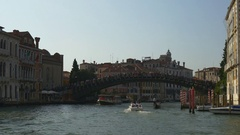 Summer day venice ponte dell'accademia road trip panorama 4k italy Stock Footage