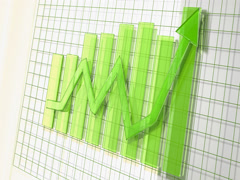 Green Business Arrow Animated Upward Graph 4K Stock Footage